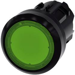 Tryckströmställare Siemens SIRIUS ACT 3SU1001-0AB40-0AA0 Flat ställdon, Plastfrontring Grön 1 st