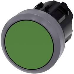 Tryckströmställare Siemens SIRIUS ACT 3SU1030-0AB40-0AA0 Flat ställdon, Metallfrontring Grön 1 st