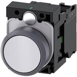 Tryckströmställare Siemens SIRIUS ACT 3SU1130-0AB60-1BA0 Plastfrontring, Flat ställdon Vit 1 st