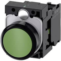 Tryckströmställare Siemens SIRIUS ACT 3SU1100-0AB40-1BA0 Plastfrontring, Flat ställdon Grön 1 st