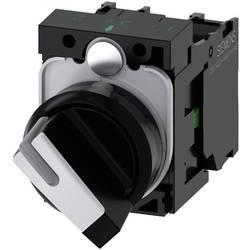 Vridströmbrytare Siemens SIRIUS ACT 3SU1100-2BF60-1MA0 Plastfrontring Svart, Vit 1 x 90 ° 1 st