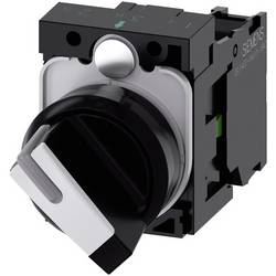 Vridströmbrytare Siemens SIRIUS ACT 3SU1100-2BF60-1BA0 Plastfrontring Svart, Vit 1 x 90 ° 1 st