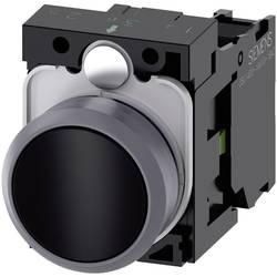 Tryckströmställare Siemens SIRIUS ACT 3SU1130-0AB10-1BA0 Plastfrontring, Flat ställdon Svart 1 st