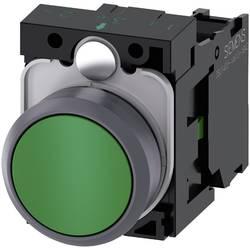 Tryckströmställare Siemens SIRIUS ACT 3SU1130-0AB40-1BA0 Plastfrontring, Flat ställdon Grön 1 st