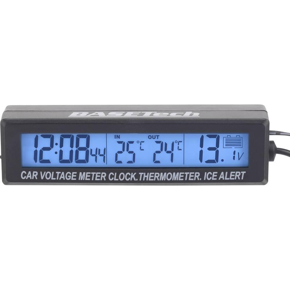 Termometer nadgradnja, opozorilo za poledico, senzor na kablu, notranja in zunanja temperatura, voltmeter, prikaz ure 12/24 h, E