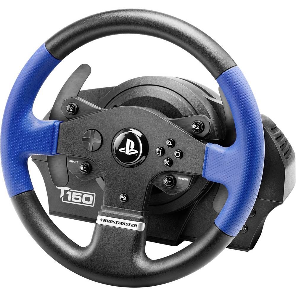 Ratt Thrustmaster T150 RS Force Feedback USB 2.0 PlayStation 3, PlayStation 4, PC Svart/Blå inkl. Pedal