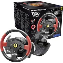 Ratt Thrustmaster T150 Ferrari Wheel Force Feedback USB 2.0 PC, PlayStation® 3, PlayStation® 4 Svart/Röd inkl. Pedal