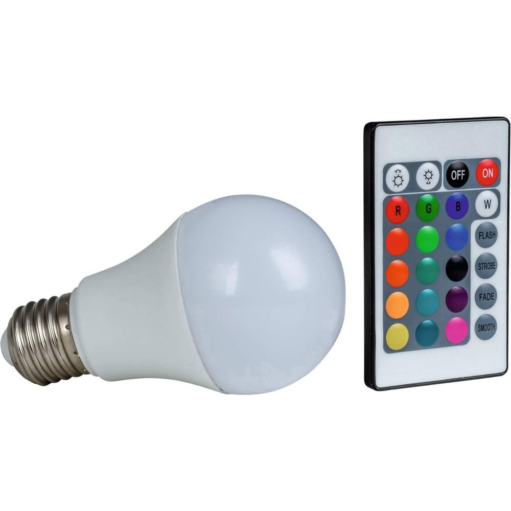 Heitronic LED EEK A+ (A++ - E) E27 Klasična oblika 7.5 W = 50 W RGBW (Ø x D) 60 mm x 108 mm Spreminja barvo, Zatemnilna 1