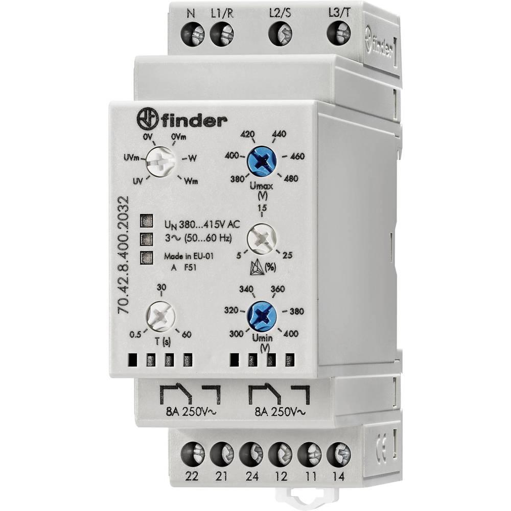 Releji za nadzor mreže 70.42.8.400.2032 Finder 70.42.8.400.2032 3-fazni nadzor mreže (380 - 415 V/AC), nadzor N-vodiča (nije oda