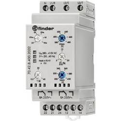 Overvågningsrelæer 380 - 415 V/AC 2 x omskifter 1 stk Finder 70.42.8.400.2032 3-fase netværksovervågning, N-fiber overvågning (i