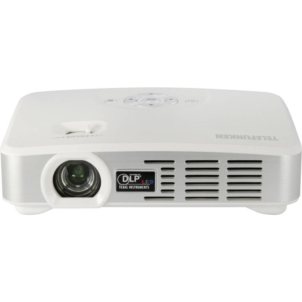 DLP beamer projektor DLP500 WIFI Telefunken svjetlost: 500 lm 1280 x 800 WXGA 1000 : 1 bijela