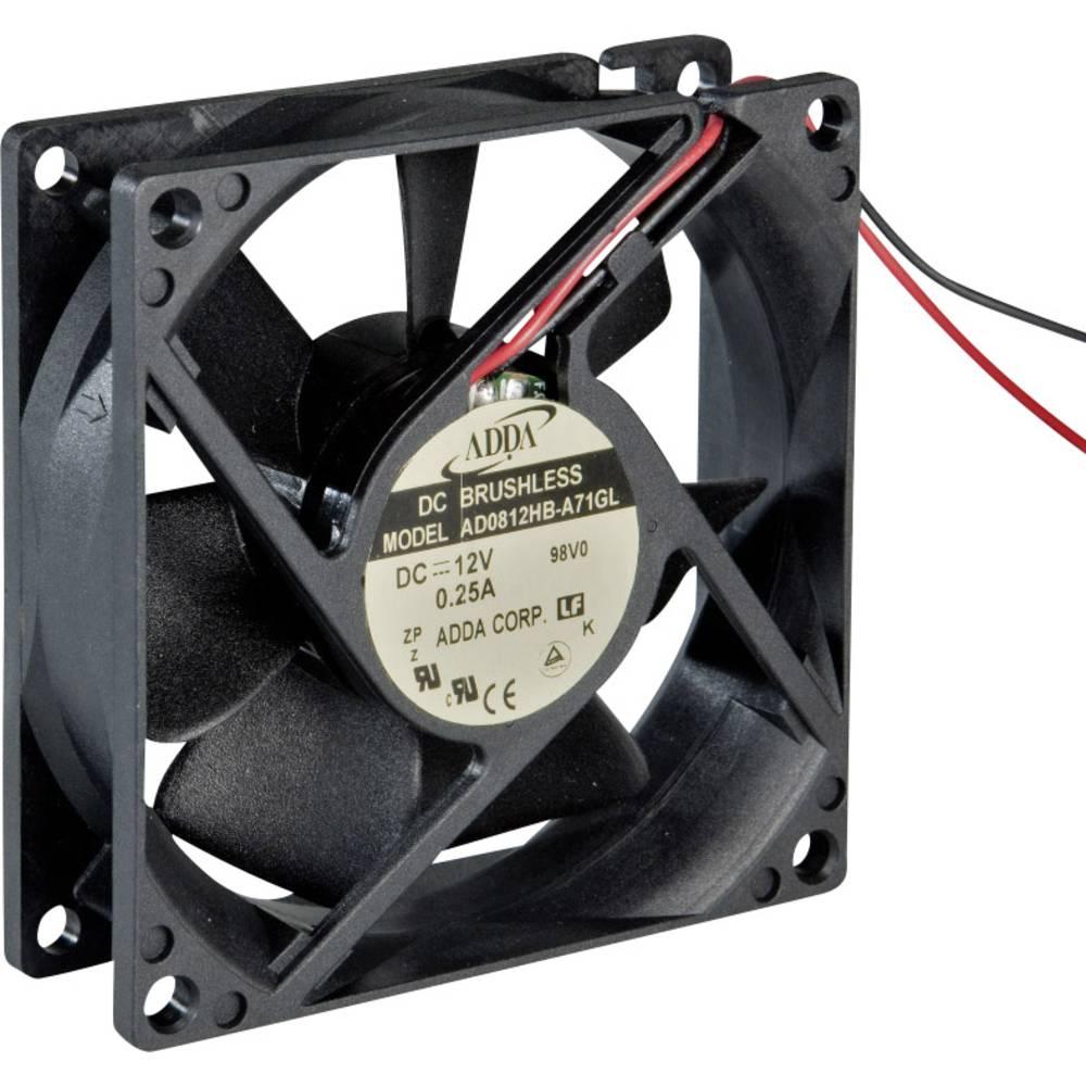 Aksial ventilator 24 V/DC (L x B x H) 80 x 80 x 20 mm ADDA AD0824HB-C71(N)