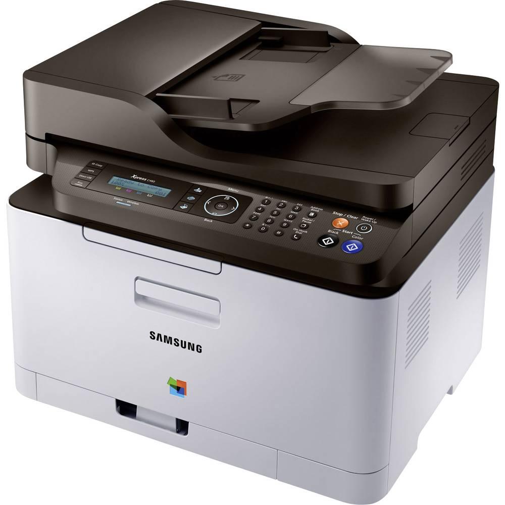 Samsung Xpress C480FN Barvni multifunkcijski tiskalnik A4 tiskalnik, skener, kopirni stroj, Fax LAN, ADF
