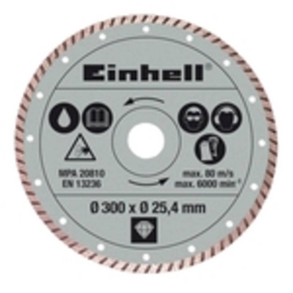 Einhell Dijamantna rezalna plošča 300 x 25.4 mm Turbo Einhell 4301178 1 kos