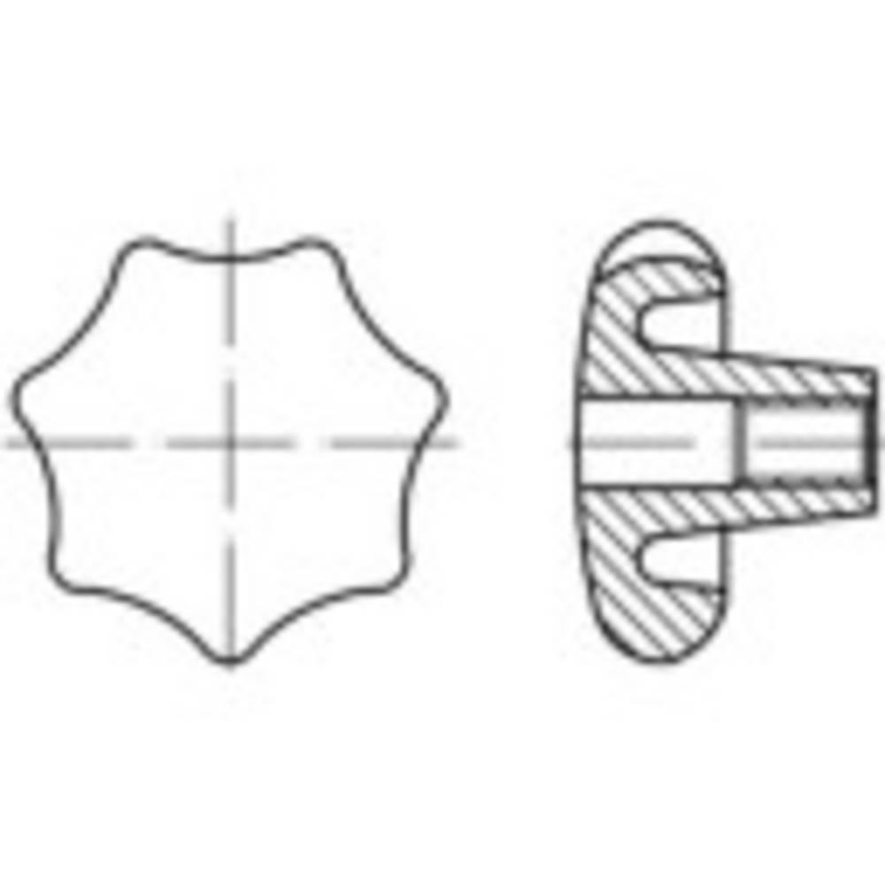 TOOLCRAFT drška zvjezdasta DIN 6336 10 mm od sivog lijeva 10 komada