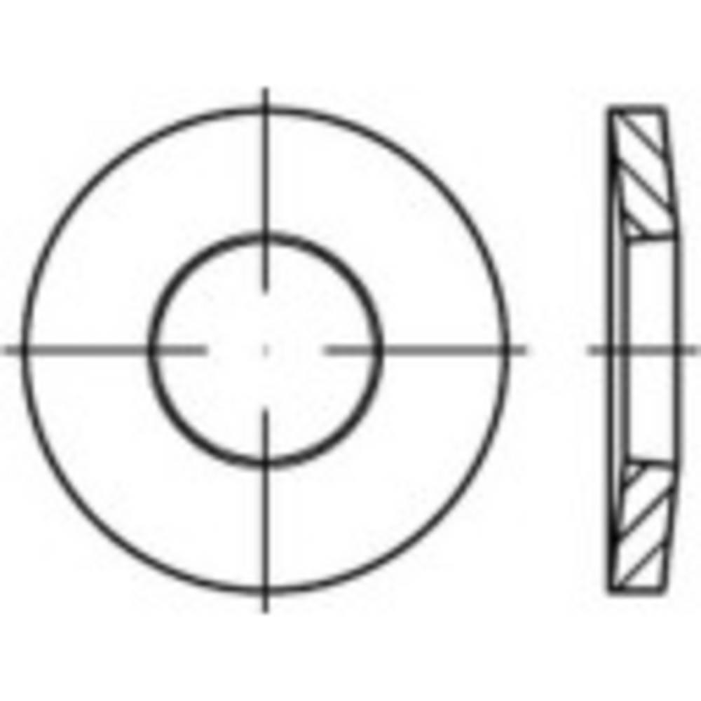 Fjäderbrickor Inre diameter: 8 mm DIN 6796 Fjäderstål förzinkad, gult kromad 250 st TOOLCRAFT 138305