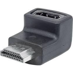 HDMI adapter 90° nach oben kotni [1x VDMI-vtič - 1x VDMI-vtičnica] črne barve s pozlačenimi vtičnimi kontakti Manhattan