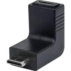 HDMI adapter [1x VDMI-vtič C Mini - 1x VDMI-vtičnica C mini] črne barve s pozlačenimi vtičnimi kontakti Manhattan