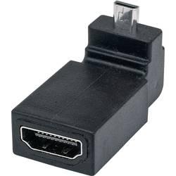 HDMI adapter [1x VDMI-vtič D Micro - 1x VDMI-vtičnica] črne barve s pozlačenimi vtičnimi kontakti Manhattan
