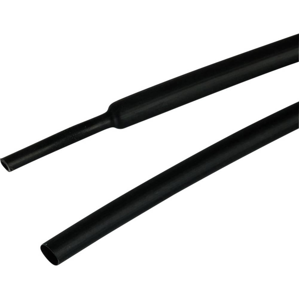 Skrčljiva cev z lepilom, črne barve, nominalni premer (pred raztegnitvijo): 19 mm 3:1 TE Connectivity ATUM-19/6-0