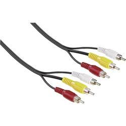 Composite Cinch AV Priključni kabel [3x cinch vtič - 3x cinch vtič] 2 m črna Hama