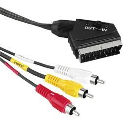 Composite Cinch / SCART Video Priključni kabel [3x cinch vtič - 1x SCART-vtič] 1.50 m črna Hama