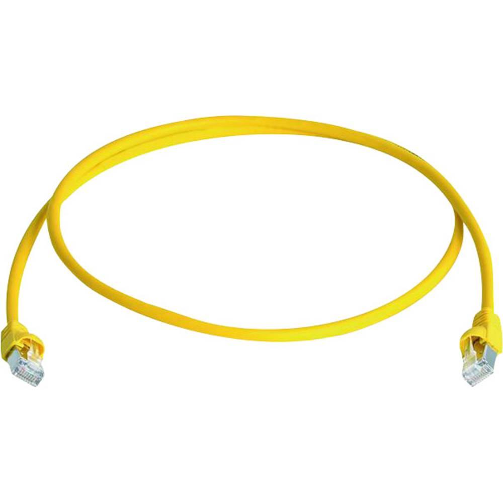 RJ45 omrežni priključni kabel CAT 6A S/FTP 20 m rumene barve z zaščito pred gorenjem, brez halogena Telegärtner