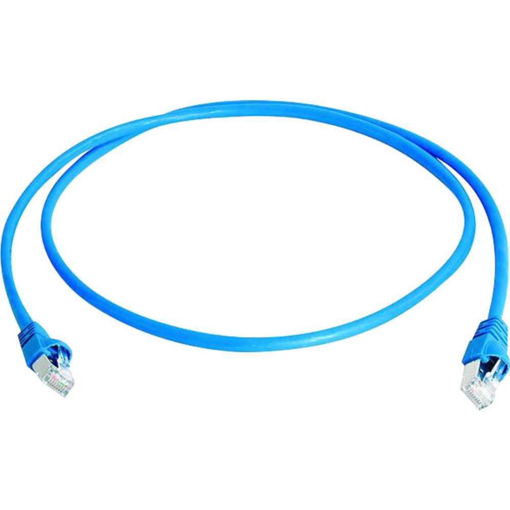 RJ45 omrežni priključni kabel CAT 6A S/FTP 25 m modre barve z zaščito pred gorenjem, brez halogena Telegärtner