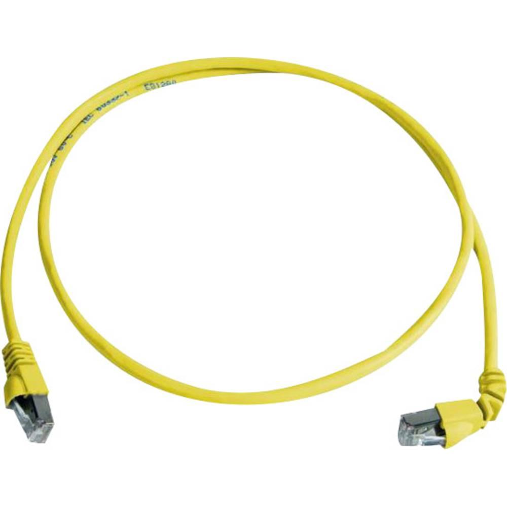 RJ45 omrežni priključni kabel CAT 6A S/FTP 3 m rumene barve z zaščito pred gorenjem, brez halogena Telegärtner