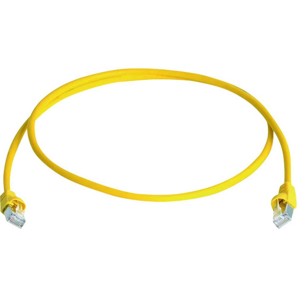 RJ45 omrežni priključni kabel CAT 6A S/FTP 50 m rumene barve z zaščito pred gorenjem, brez halogena Telegärtner