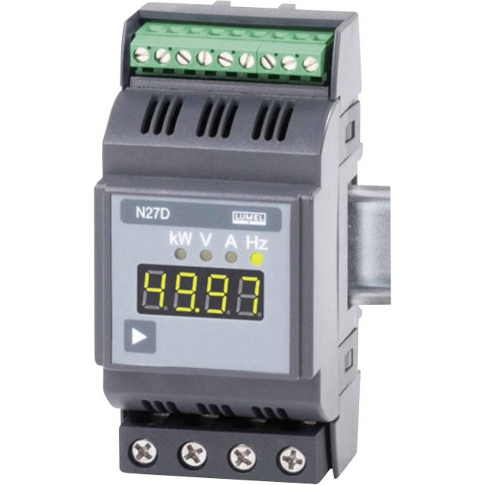 Lumel N27D 00E0 1-fazni multimeter za DIN-letev 2.3 - 276 V/AC0.6 - 75 A/AC2 - 500 Hz±31.5 kW
