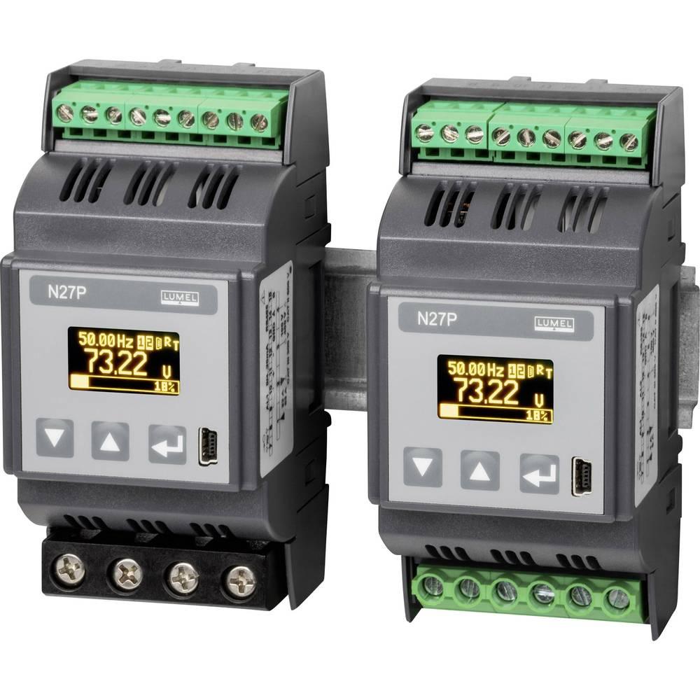 Lumel N27P 1100E0 1-fazni multimeter za DIN-letev 5 - 480 V0.005 - 6 A45 - 100 Hz±2.88 kW