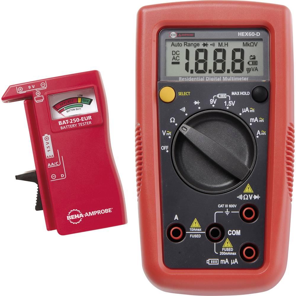 Ročni multimeter, digitalni Beha Amprobe HEX60-D kalibracija narejena po: delovnih standardih, CAT III 600 V