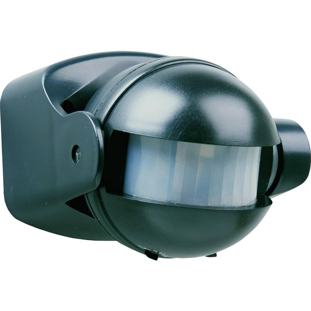 Vgradni PIR-senzor gibanja Smartwares 10.017.11 180 ° črne barve IP44