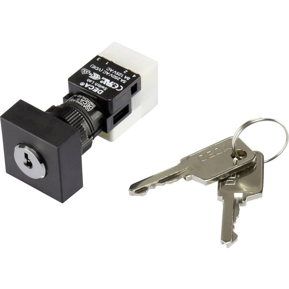 Stikalo na ključ 250 V/AC 5 A 1 x vklop/izklop/vklop 2 x 90 ° DECA ADA16K6-AA0-CH IP65 1 kos