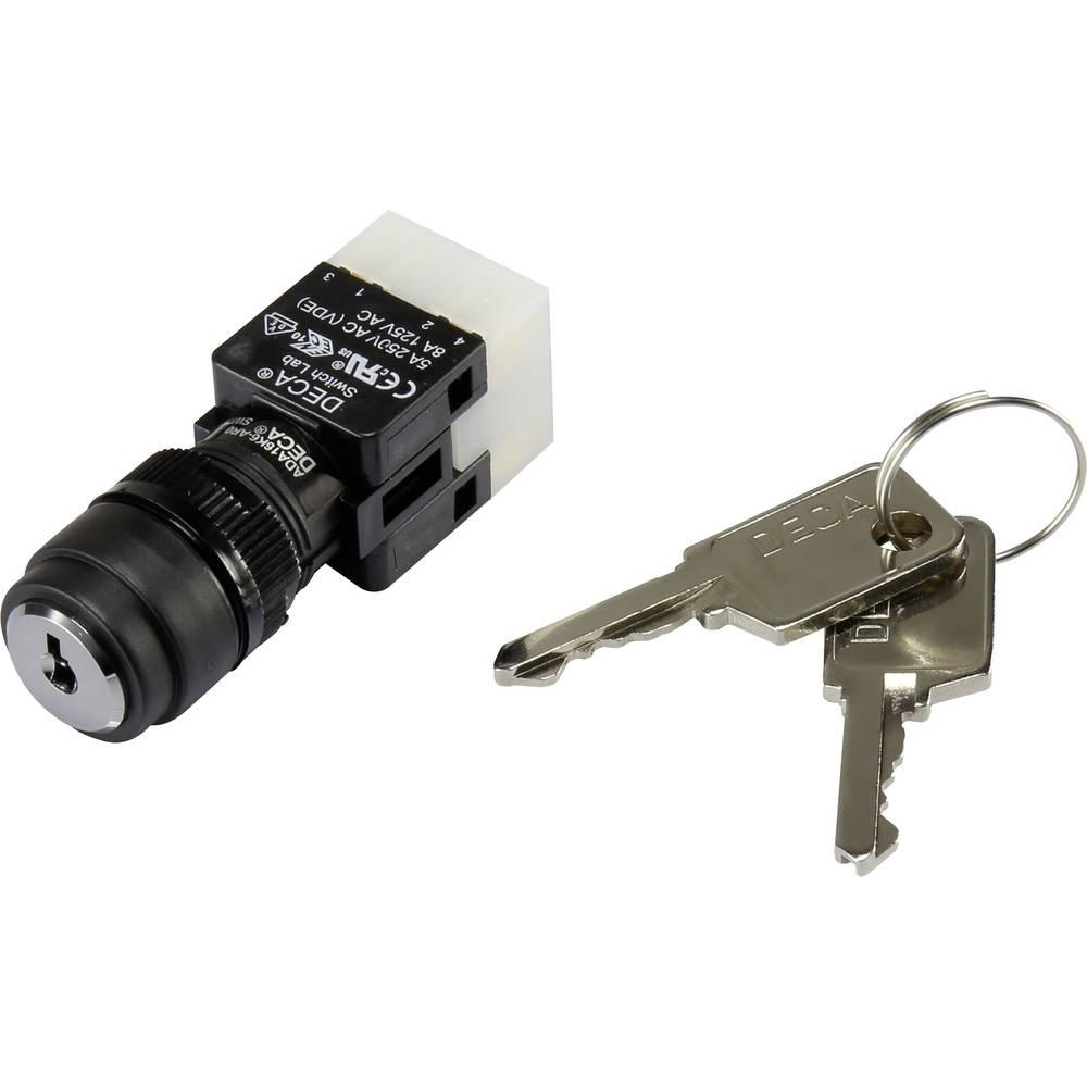 Stikalo na ključ 250 V/AC 5 A 1 x izklop/vklop 1 x 90 ° DECA ADA16K6-AR0-DE IP65 1 kos