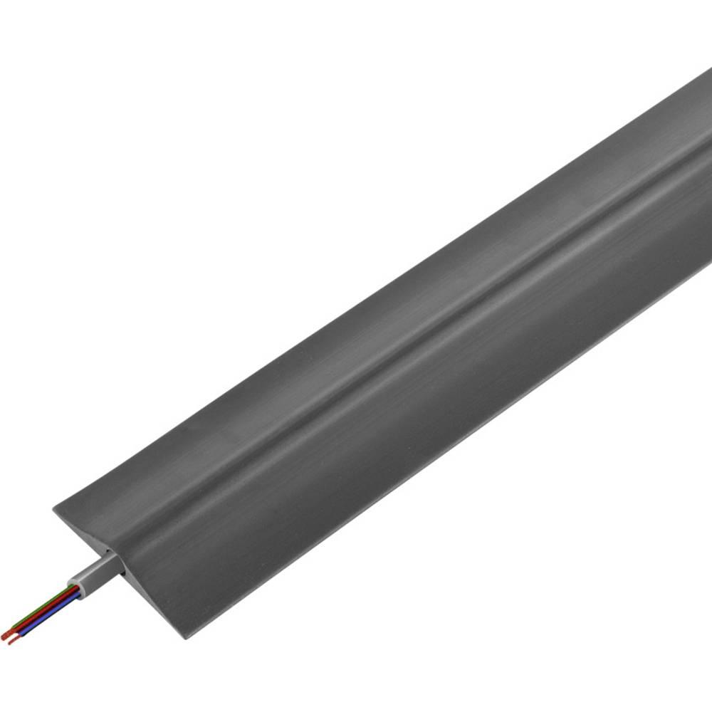Talna zaščita za kable , industrijski, tipa A (D x Š x V) 4500 x 108 x 19 mm črne barve Vulcascot vsebuje: 1 kos