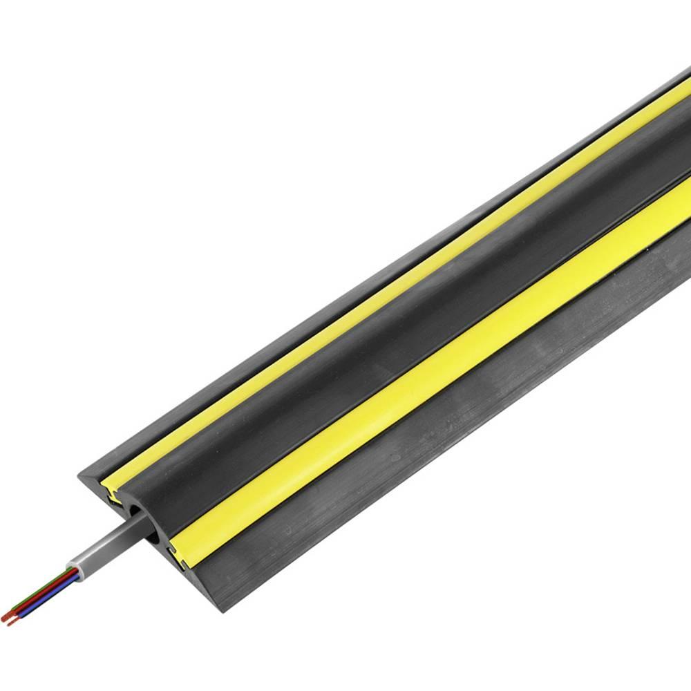 Talna zaščita za kable Traffic Calmer TTC/1 (D x Š x V) 4500 x 130 x 30 mm črne barve Vulcascot vsebuje: 1 kos