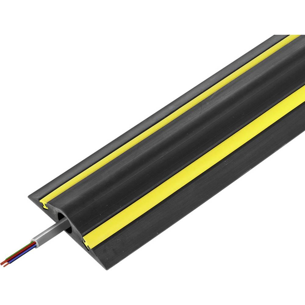 Talna zaščita za kable Traffic Calmer TTC/4 (D x Š x V) 1500 x 248 x 35 mm črne barve Vulcascot vsebuje: 1 kos
