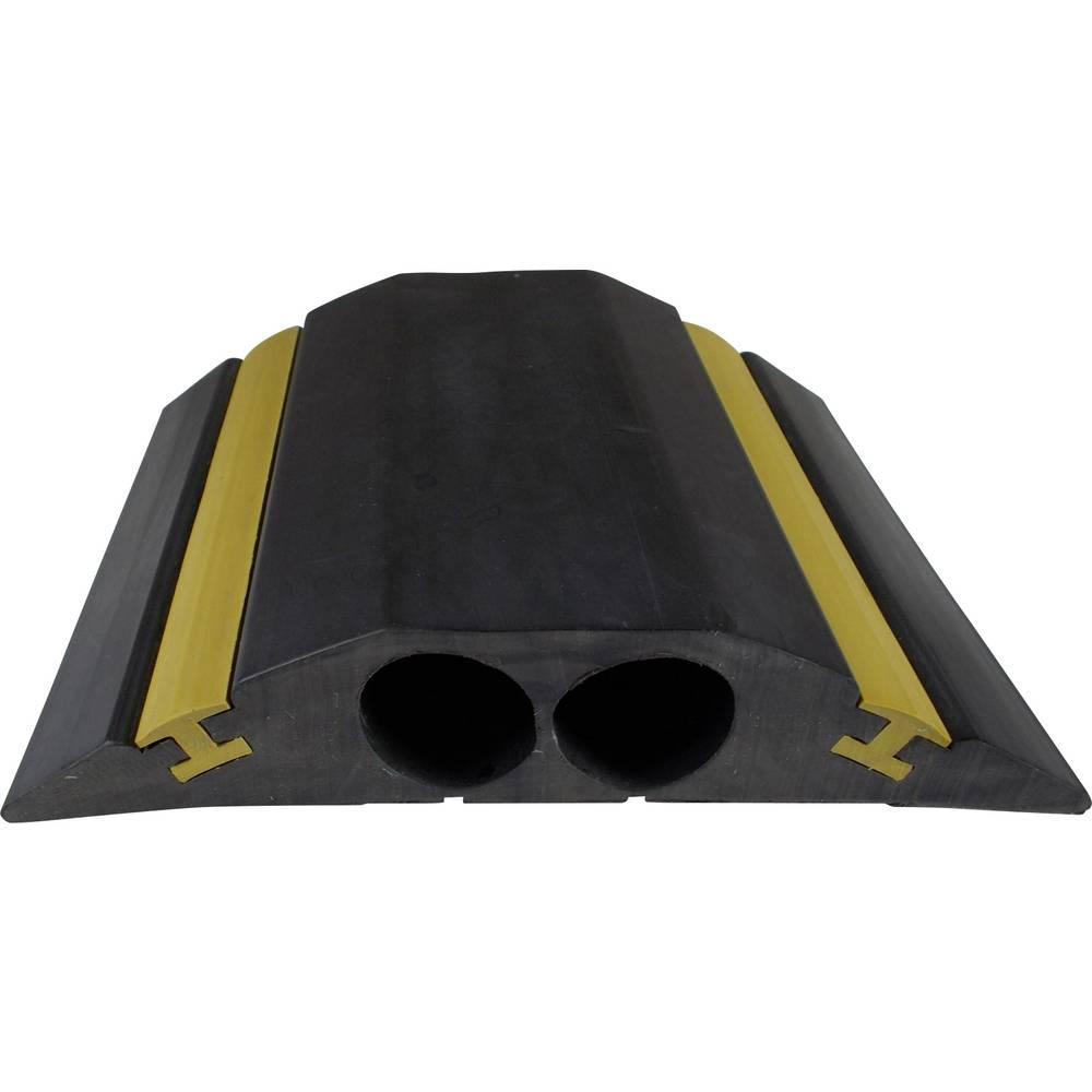 Talna zaščita za kable , industrijski, HI-VIZ2 (D x Š x V) 4500 x 156 x 30 mm črne barve Vulcascot vsebuje: 1 kos