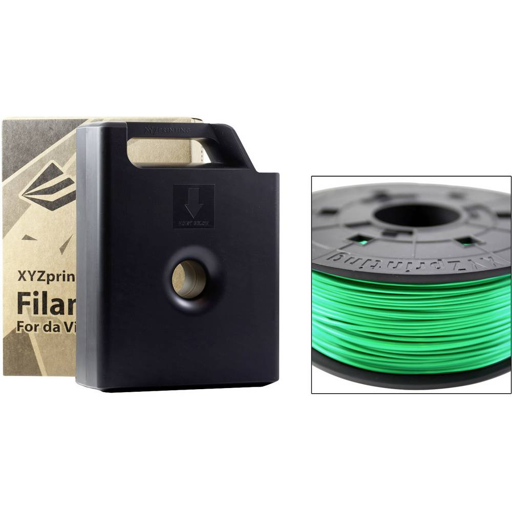 Filament XYZprinting ABS 1.75 mm zelene barve 600 g kartuša