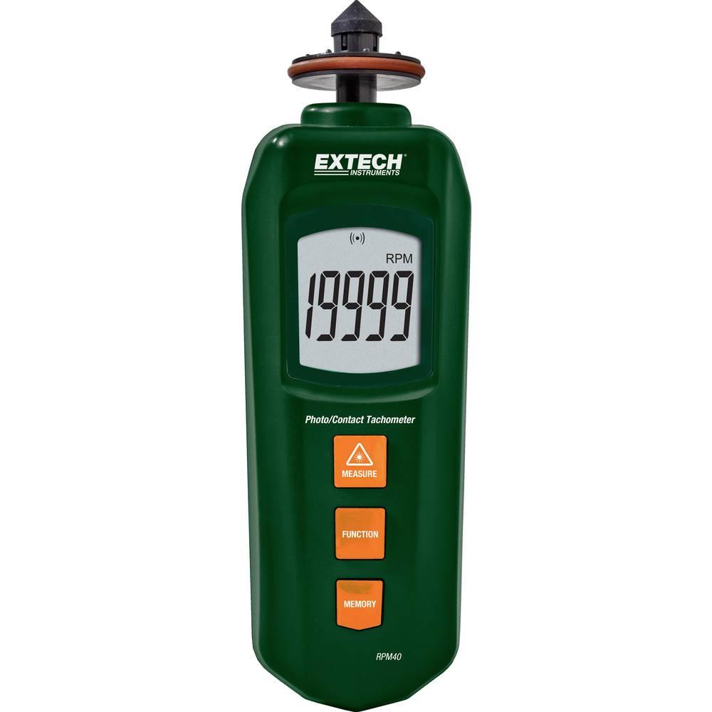 Extech RPM40 merilnik vrtljajev, kontaktni laser foto tahometer, kombinirana naprava;