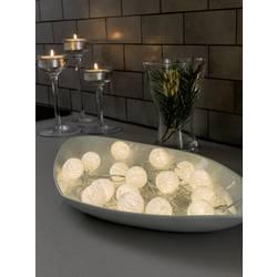 Motiv-lyskæde Konstsmide Kugler LED Varm hvid 6 m Innen (value.1336640) via strømdrift