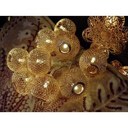 Motiv-lyskæde Konstsmide koppar blommor Kugler Varm hvid 1.2 m Batteridrevet