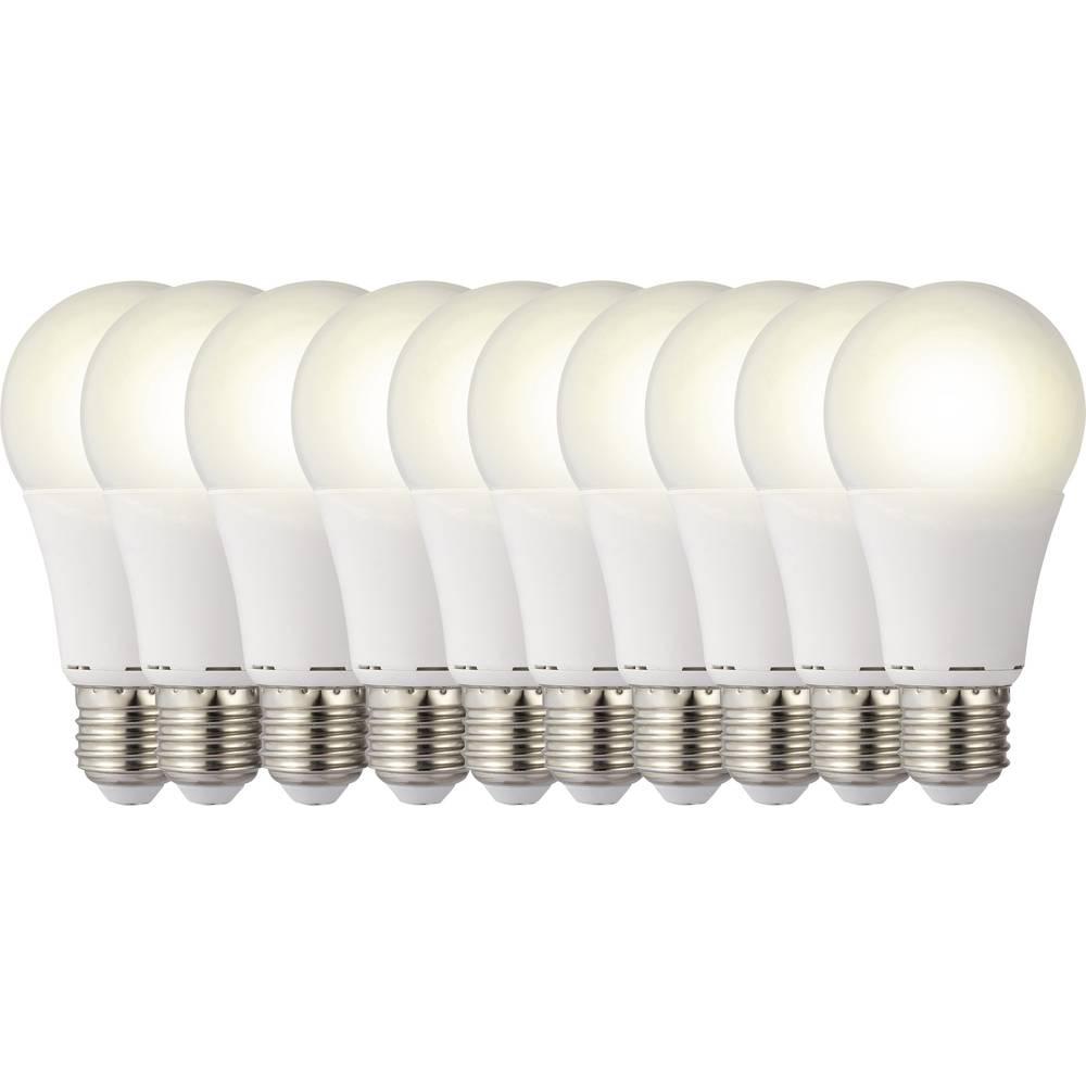 LED žarulja (jednobojna) 119 mm sygonix 230 V E27 9.5 W = 60 W toplo-bijela KEU: A+ oblik klasične žarulje, sadržaj: 10 kom.