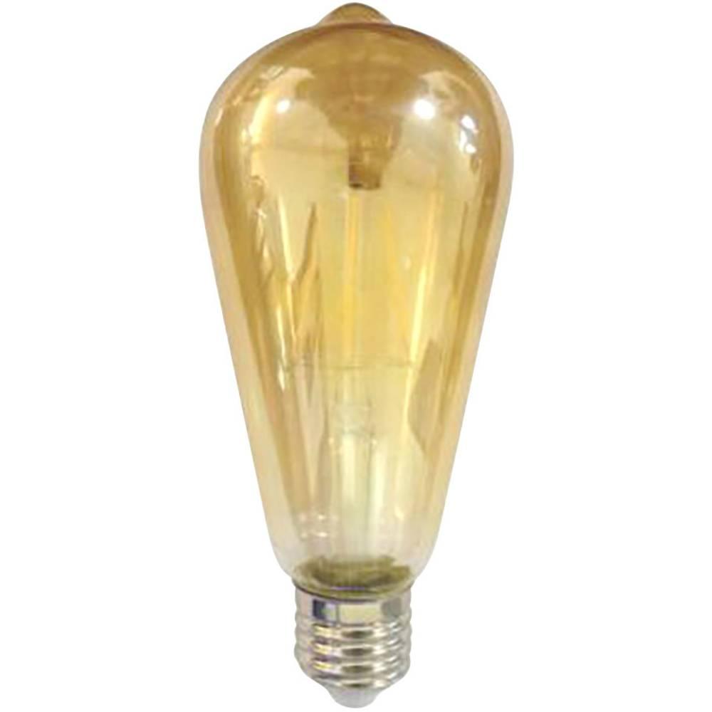 LED žarnica (enobarvna) LightMe 230 V E27 4 W = 30 W topla bela, energ. razred: A+ cilindrična oblika (premer x D) 64 mm x 145 m