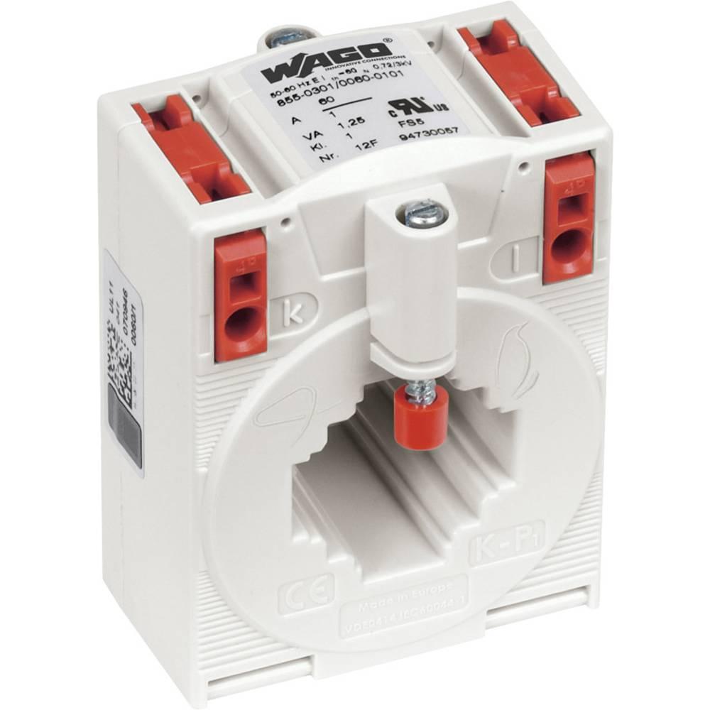 WAGO 855-301/060-101 Tokovni pretvornik, primarni tok:60 A sekundarni tok:1 A premer vhoda kabla :26 mm