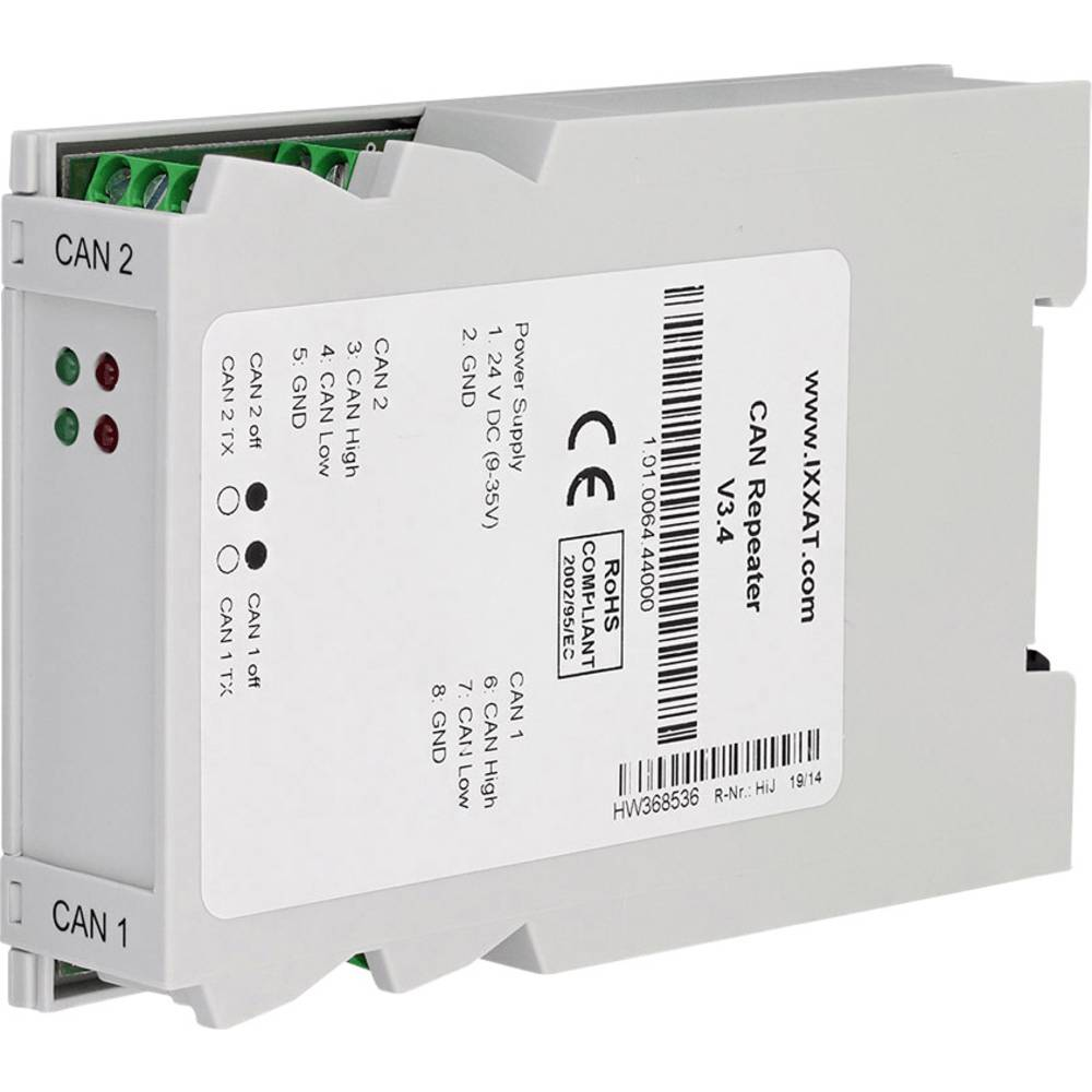 CAN repeater CAN Bus Ixxat 1.01.0064.44000 delovna napetost: 12 V/DC, 24 V/DC