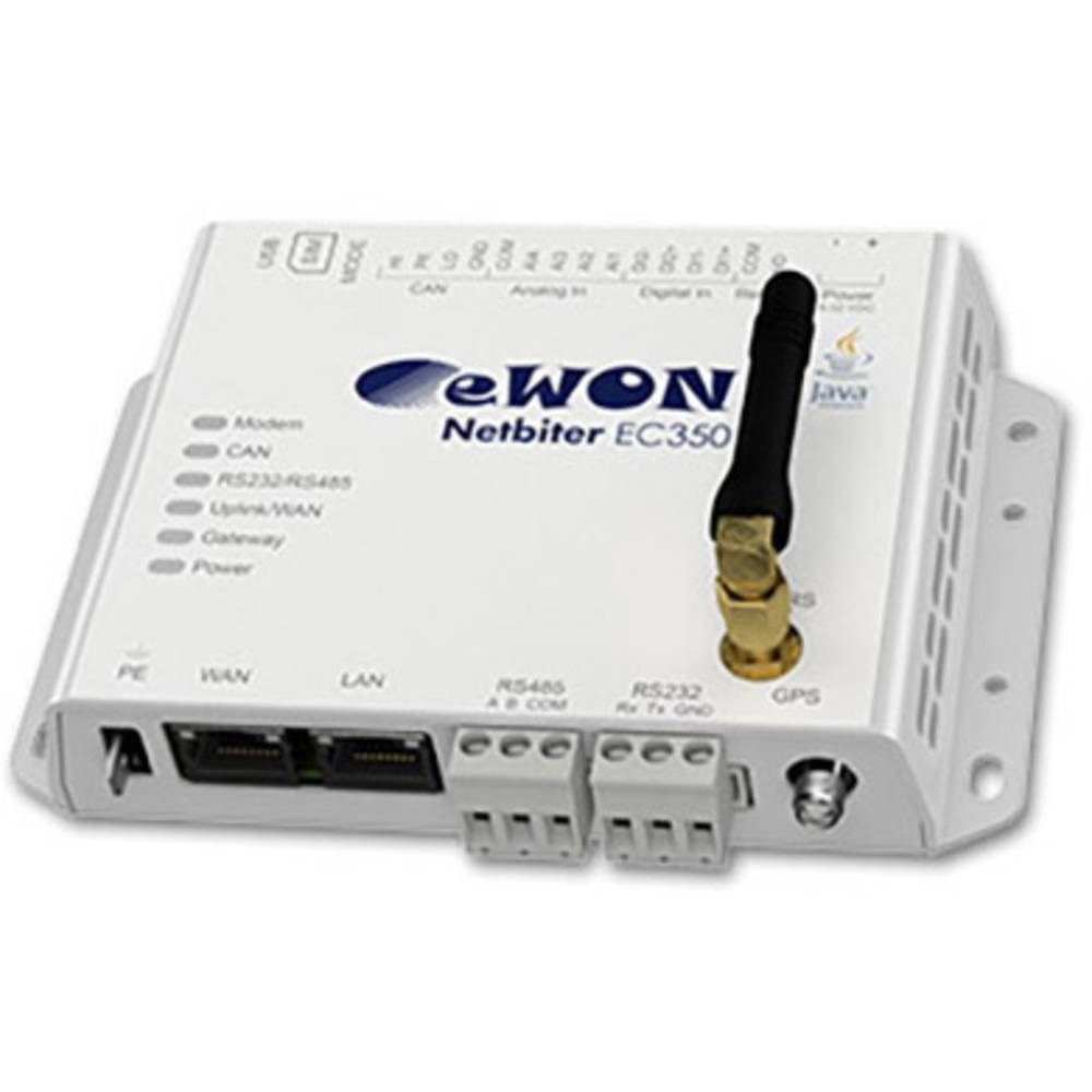 EasyConnect LAN, RS-232, RS-485, 3G, GPS netbiter EasyConnect EC350 delovna napetost: 12 V/DC, 24 V/DC, 48 V/DC