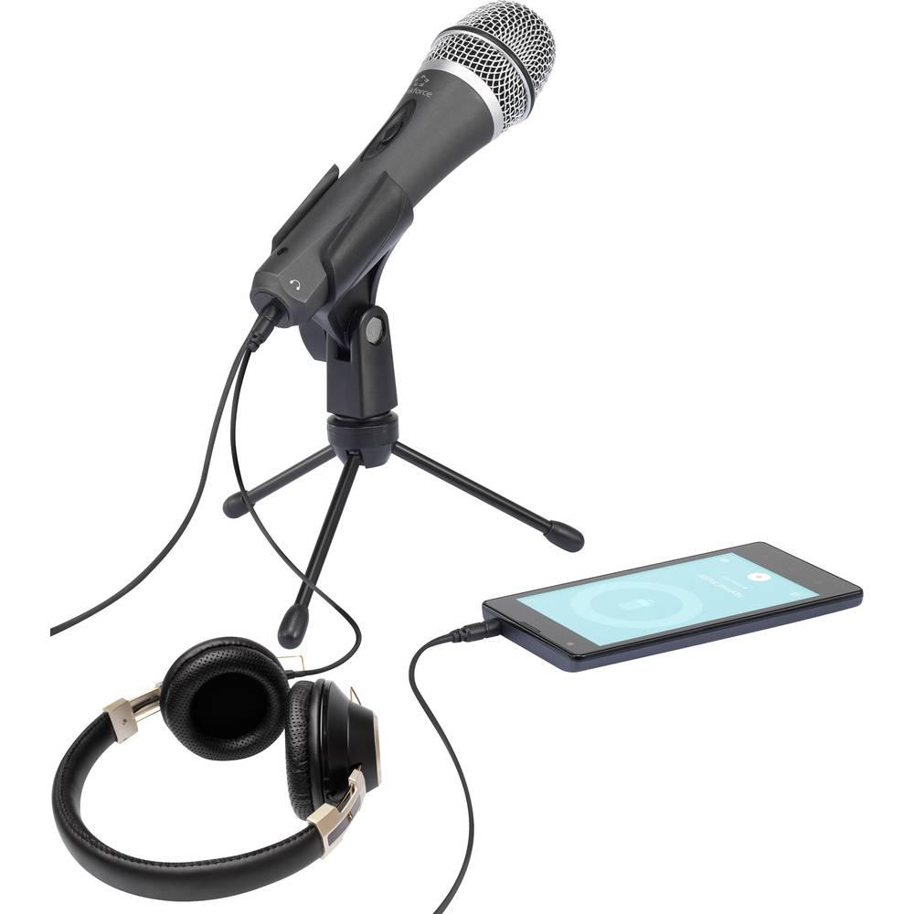 PC-Mikrofon Renkforce , kabelski prenos vklj. S sponko, stikalo
